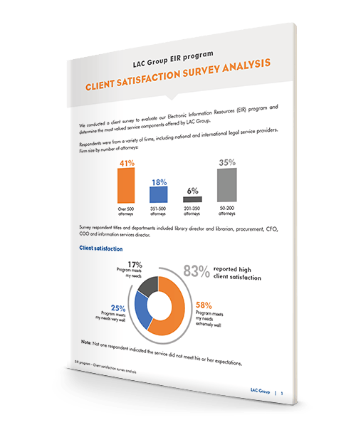 EIR client satisfaction survey