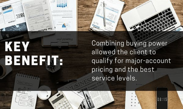 Combining buying power for purchasing leverage