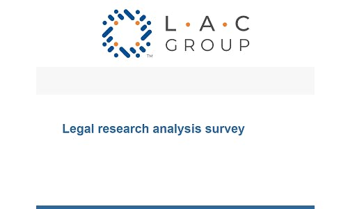 Legal research analysis survey