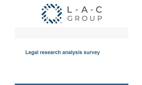 Legal research analysis survey