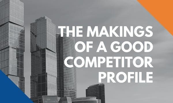 making competitor profile