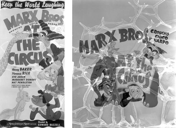 Marx Bros Damaged Banner At The Circus