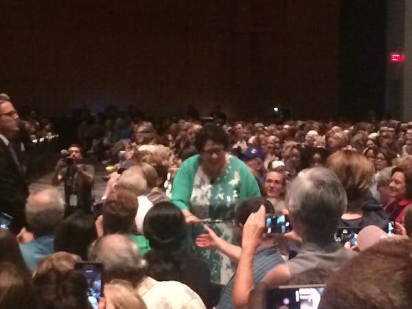 Sonia greeting the crowd