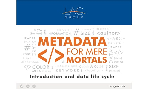 Metadata for mere mortals introduction