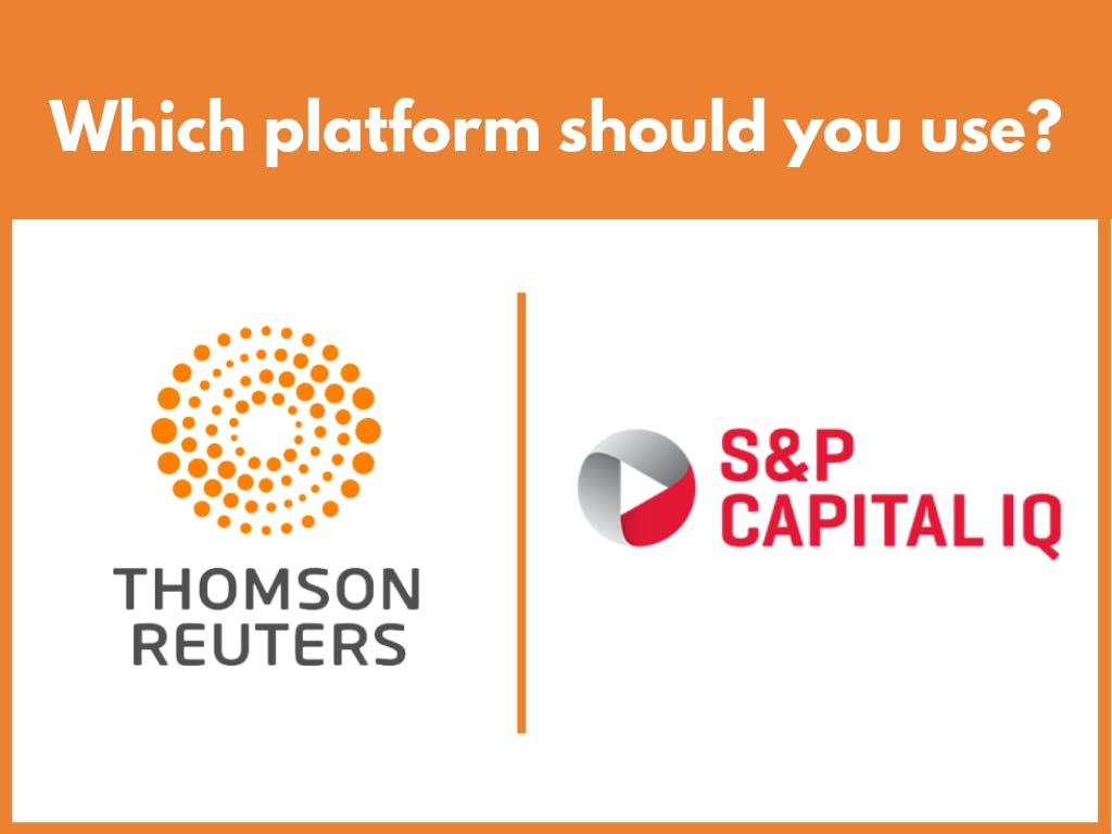 Which platform- Thomson Reuters S&P