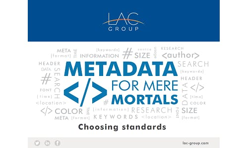 Choosing metadata standards