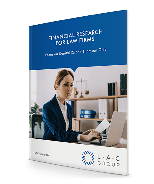 Financial research for law firms