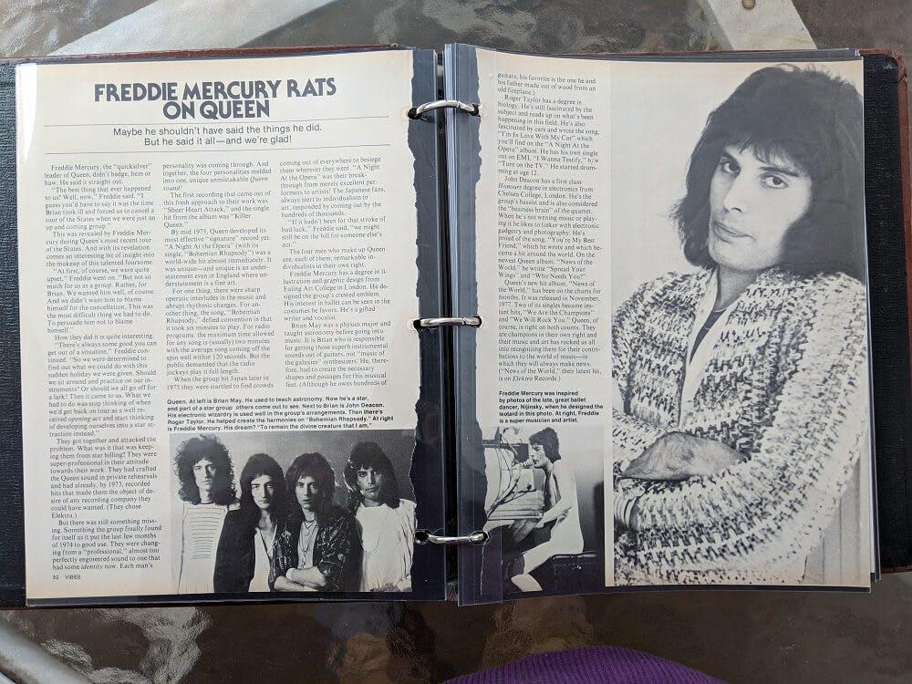 Freddie Mercury rats on Queen