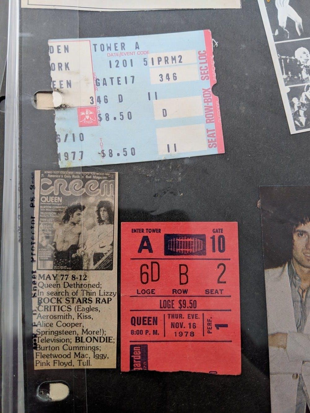 Queen ticket stubs