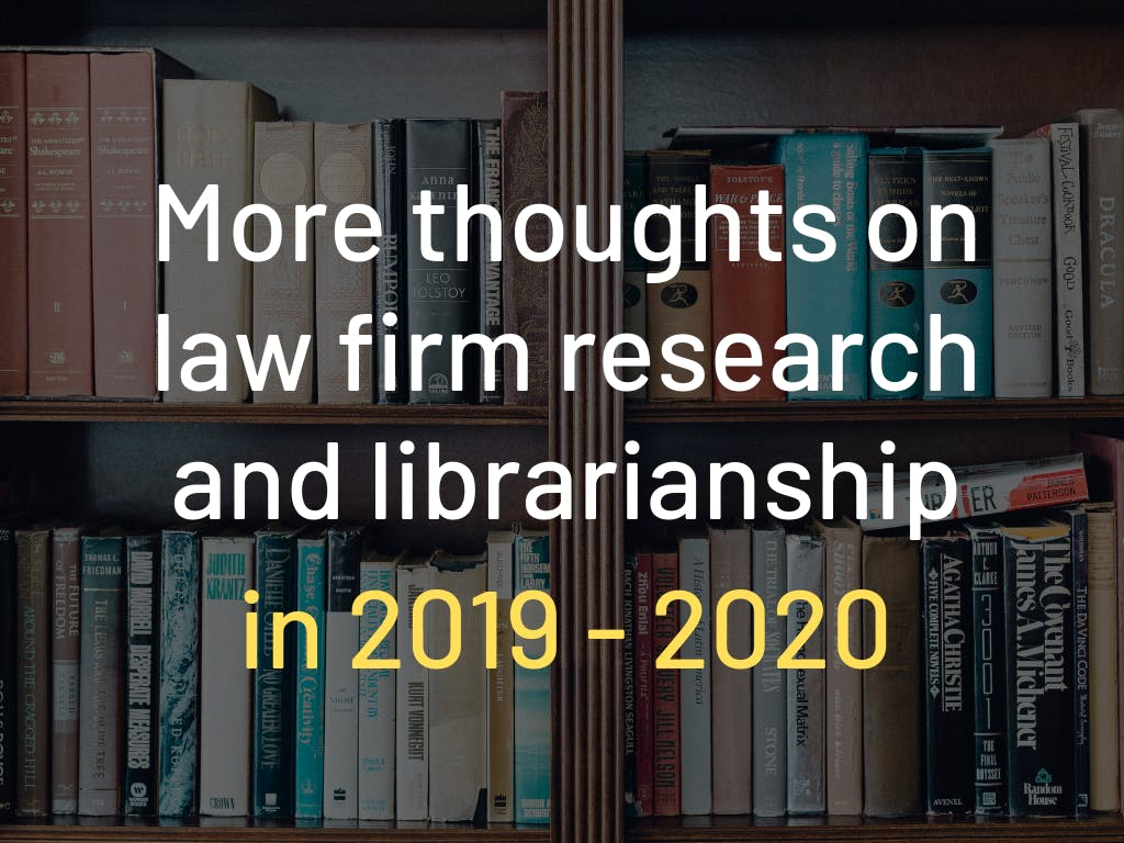 Librarianship in 2019
