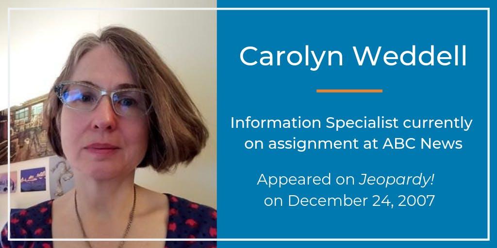 Carolyn Weddel on Jeopardy