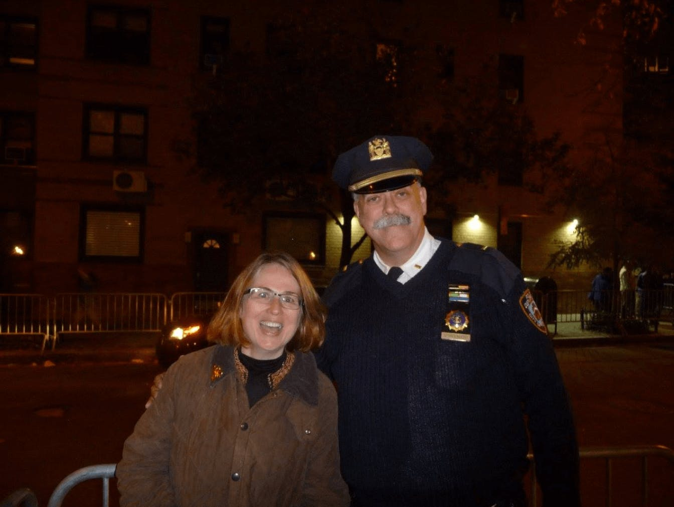 Carly meeting NYPD capt