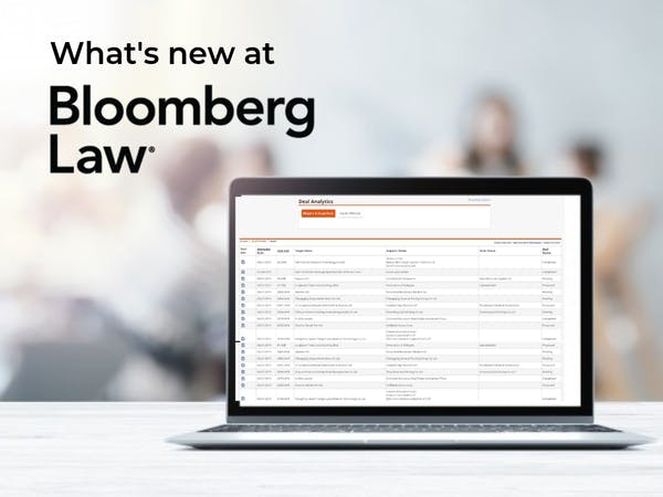 New tools at Bloomberg law