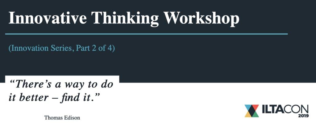 Innovative Thinking Workshop