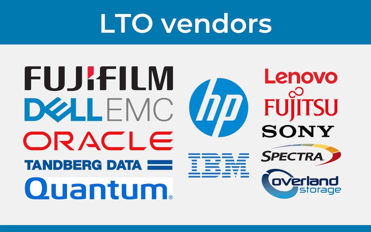 LTO Vendors list