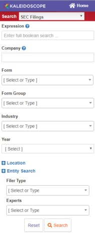 Search options - SEC Filings