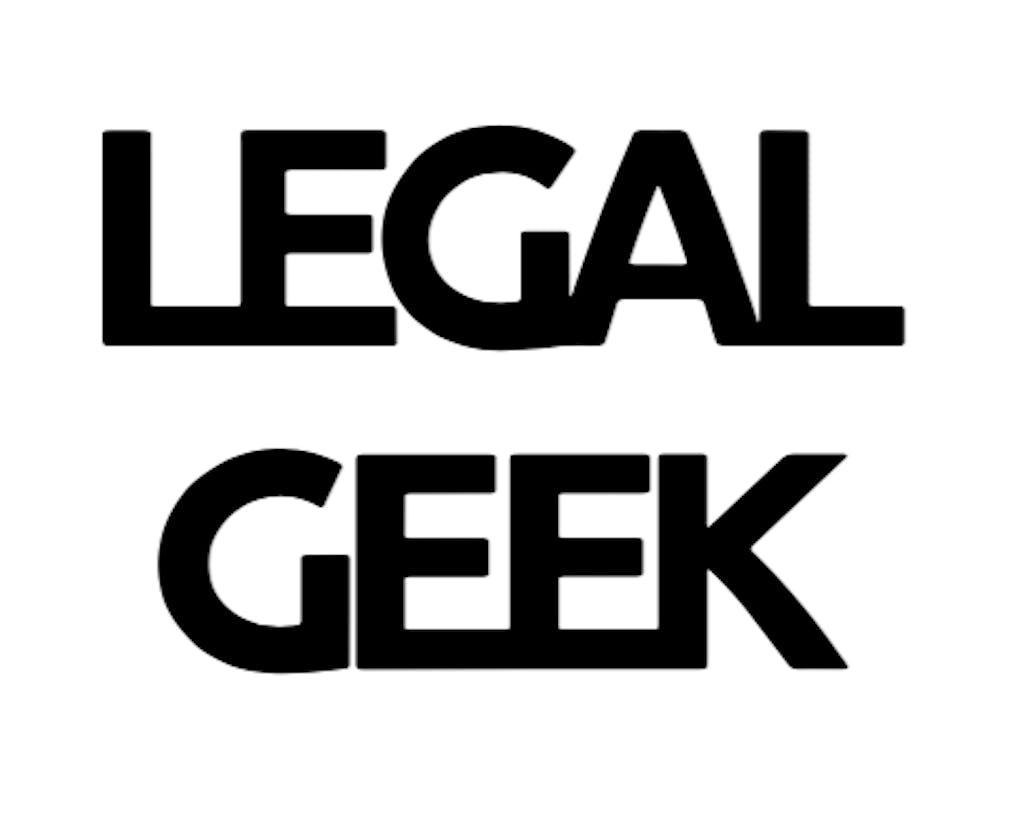 legal geek logo white