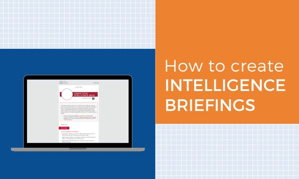 create intelligence briefings